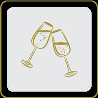 אייקון כוסות שמפניה